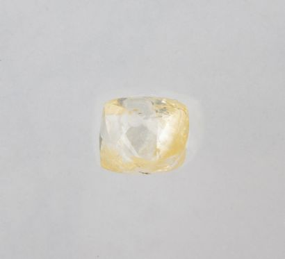 Rough unmounted 0.37 ct. dodecahedron diamond, O-P colour especially at the tips,...