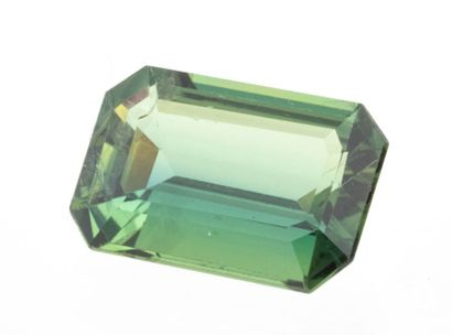 Sapphire of 2.82 ct. Emerald cut with mixed cut sides which has an almost mysterious...