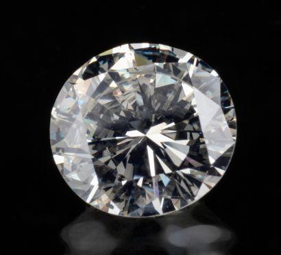 Diamant rond brillant non monté de 1,21 ct....