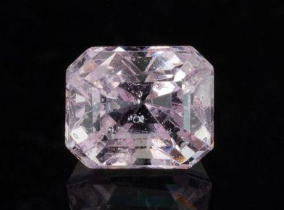 Luminous pink spinel weighing 1.46 carats,...