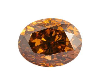 Diamant de 0,79 ct. de couleur brun doré...