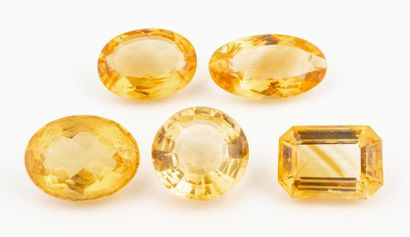 Lot of 5 very beautiful recycled citrines...