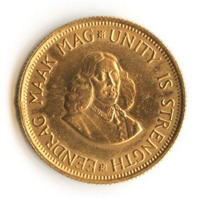 Afrique du sud - 2 rand de 1967 en or. Côté...