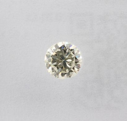 Round brillant natural diamond of 0.31 ct. of J colour and clarity VS1. No fluorescence....