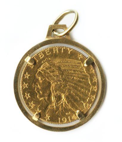 Pendentif en or jaune 18k (750 millièmes)...