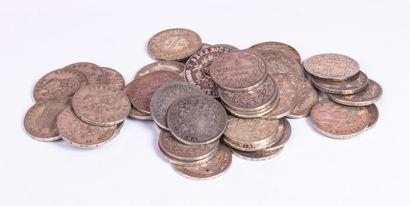 Lot de pièces en argent d'Italie de 1870...