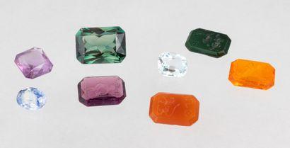 Set of eight stones including four intaglio...