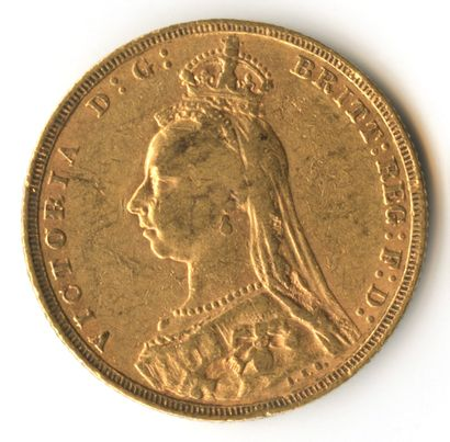 England - 1892 gold sovereign coin depicting...