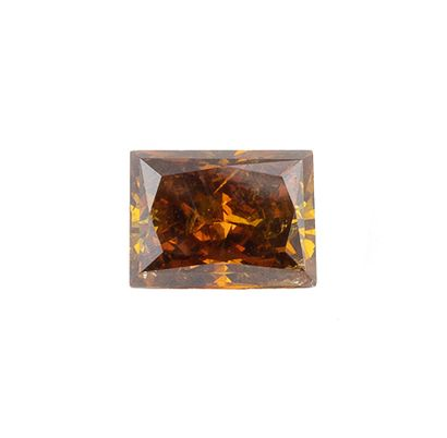 Diamant naturel de couleur fancy dark orangy...