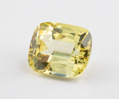 2.48 ct. chrysoberyl, facetted cushion size,...