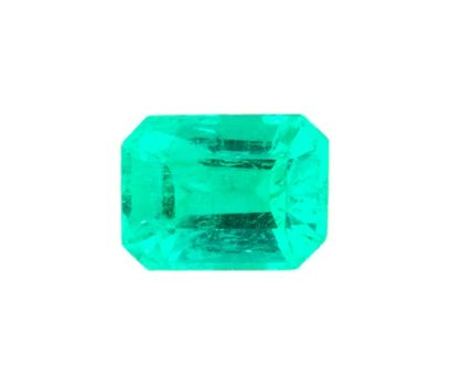 A natural emerald from Colombia of 0.693 ct., minor treatment. Medium to intense...