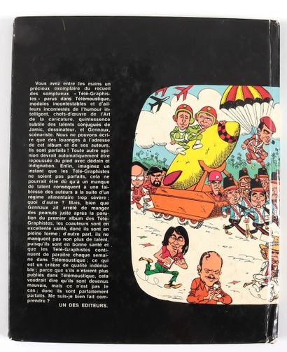 Gennaux : Les Télé-Graphistes , recueil en édition originale agrémenté de 9 signatures...