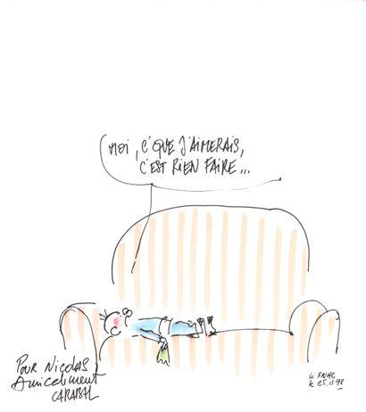DIVERS : Ensemble de deux illustrations sur papier dessin relatives à des séries...