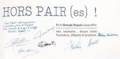Dupuis : Carte de voeux 1988 de 8 pages, dessinée par Franquin pour le groupe Dupuis....