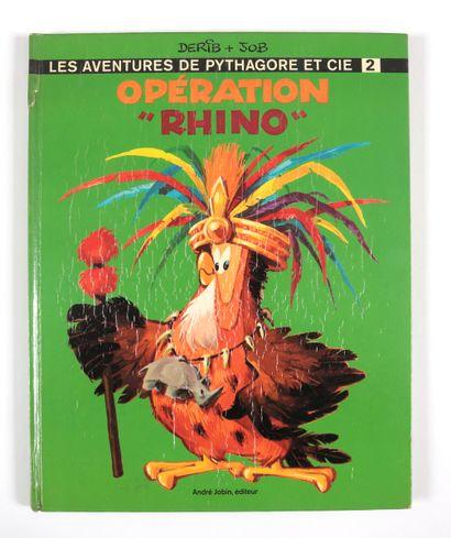 """Derib : Pythagore et compagnie , """" Opération """"Rhino """" en édition originale agrémenté..."""