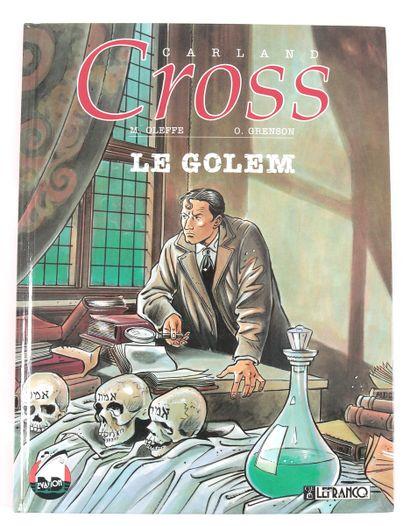 """Grenson : Ensemble de 4 albums de la série Carland Cross . """" Le Golem """" (eo 1991)..."""