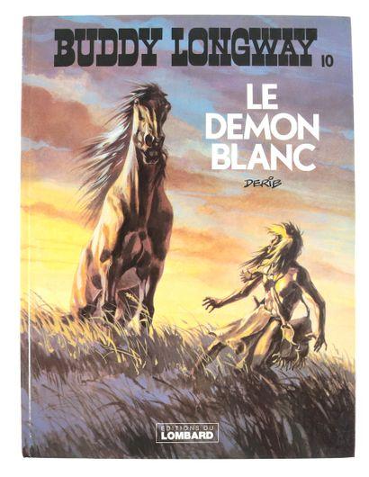 """Derib : Ensemble de deux albums. Buddy Longway , """" Le Démon blanc """" (eo 1981) agrémenté..."""