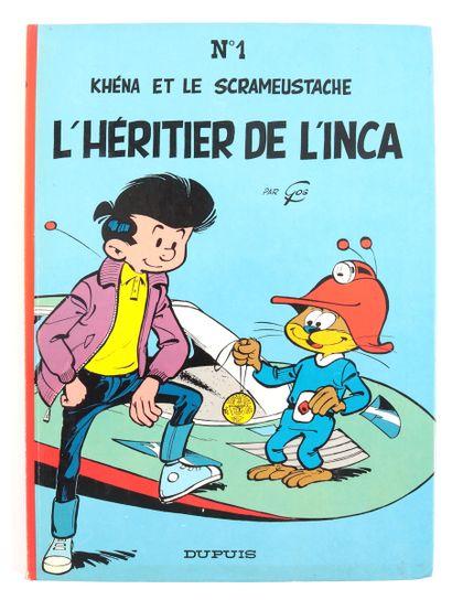 """Gos : Le Scrameustache , ensemble de trois albums. """" L'Héritier de l'inca """" (ré 1980)..."""