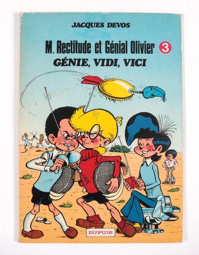 """Devos : Génial Olivier , """" Génie, Vidi, Vici """" en édition originale agrémenté d'une..."""