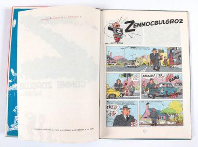 Spirou : Z comme Zorglub , édition originale de 1961 (nom en page de garde et date...