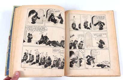 Tintin : Les Cigares du pharaon , édition noir & blanc grande image de 1942 (A18)....
