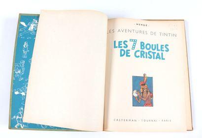 Tintin : Les 7 boules de cristal , édition originale de 1948 (B2, titre en bleu)....