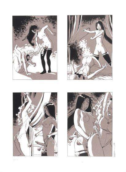 """Michetz : Ensemble de 3 sérigraphies """" Bondage """" n°8/10A, signées (2005). Dimensions..."""