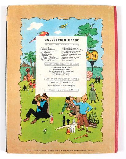 Tintin : On a marché sur la lune (B11) et Coke en stock (B24). Ensemble de 2 albums...