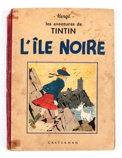 Tintin : L'Ile noire , édition noir & blanc de 1941 (A17bis, pagination 6 à 129)....