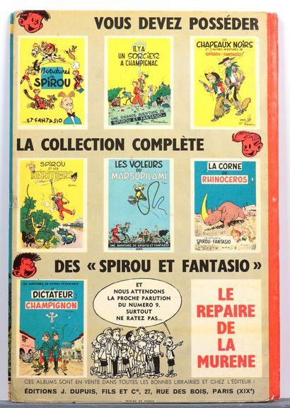 Spirou : La Mauvaise tête , édition originale française de 1956 (dos carré orange)....