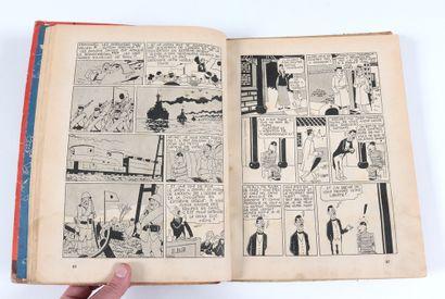 Tintin : Le Lotus bleu , édition noir & blanc grande image de 1942 (A18). Mauvais...