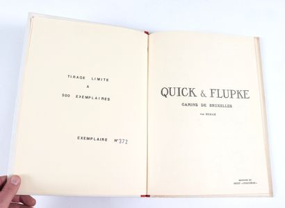 Quick et Flupke : Tome 1, fac-similé limité à 500 exemplaires. Très très bon état....