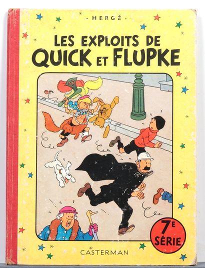 Quick et Flupke : Tomes 3 (x2, B4), 4 (B11), 5 (B11), 7 (x2, B22bis et B11). Ensemble...