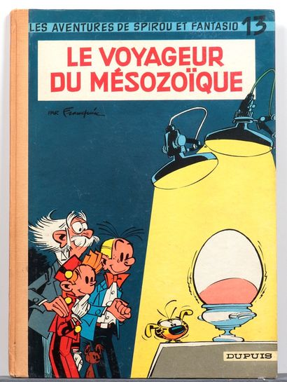 Spirou : Le Voyageur du Mésozoïque , édition originale de 1960. Très bon état / Très...
