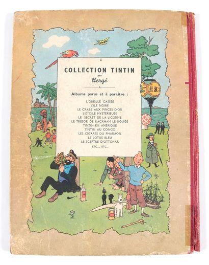 Tintin : Tintin en Amérique , édition originale couleur de 1946 (B1, 1945). Etat...