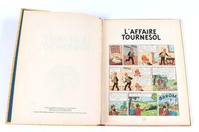 Tintin : L'Affaire Tournesol, édition originale belge de 1956 (B20). Très bon état...