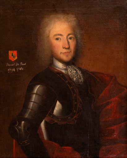 École du XVIIIe siècle Portrait de Daniel...
