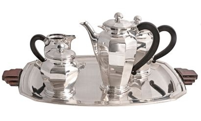 Service à thé et café de style Art Déco en...