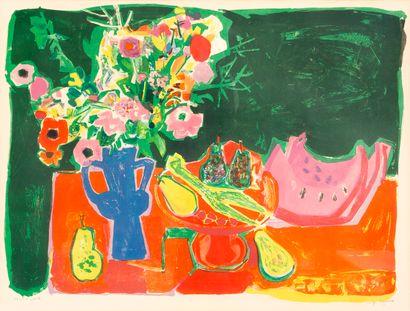 Roger BEZOMBES (1913-1994) Nature morte aux...