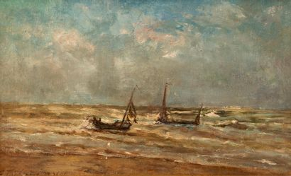 Theodore TSCHARNER (1826-1906) Bord de Mer...