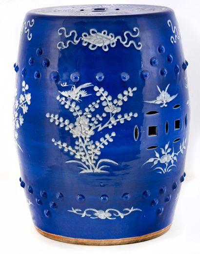 Chine XIXe siècle Tabouret en porcelaine...
