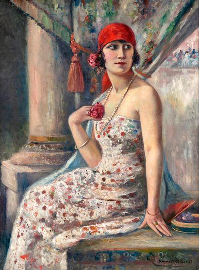 Raymond CHARLOT (1879-?) Femme au collier...