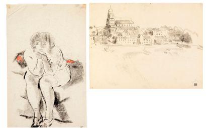 Willem PAERELS (1878-1962) Jeune fille assise...