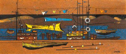 Gustave CAMUS (1914-1984) Le grand filet...