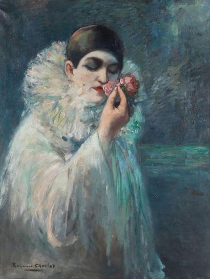 Raymond CHARLOT (1879-?) Portrait de Pierrot...