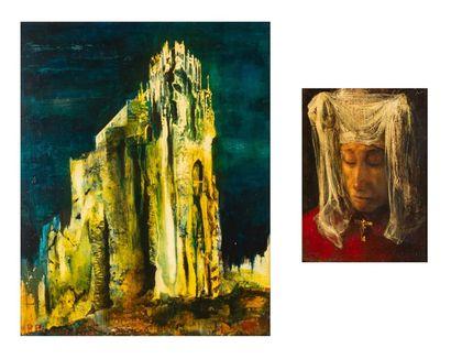 René PELOUSSE (1917-1977) Paysage et Portrait...