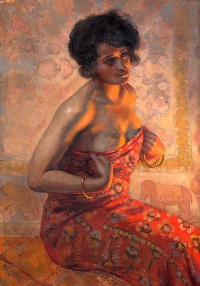 Gustav Max STEVENS (1871-1946) Jeune femme...