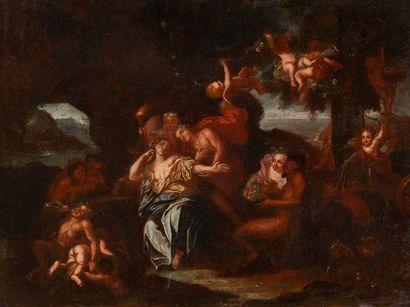 École nordique, fin XVIIe siècle Bacchus...