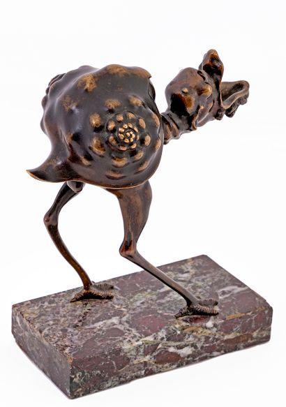 D'après Arent VAN BOLTEN (vers 1573 - vers 1633) Petite lampe à huile ou brûle-parfum...