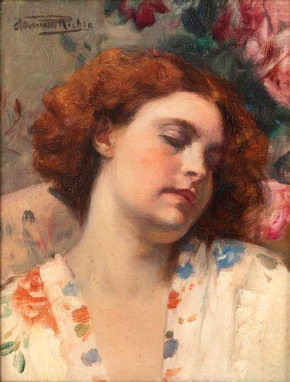 Herman RICHIR (1866-1942) Rêverie Huile sur...